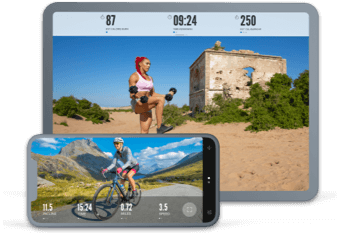 iFIT app on phone and tablet
