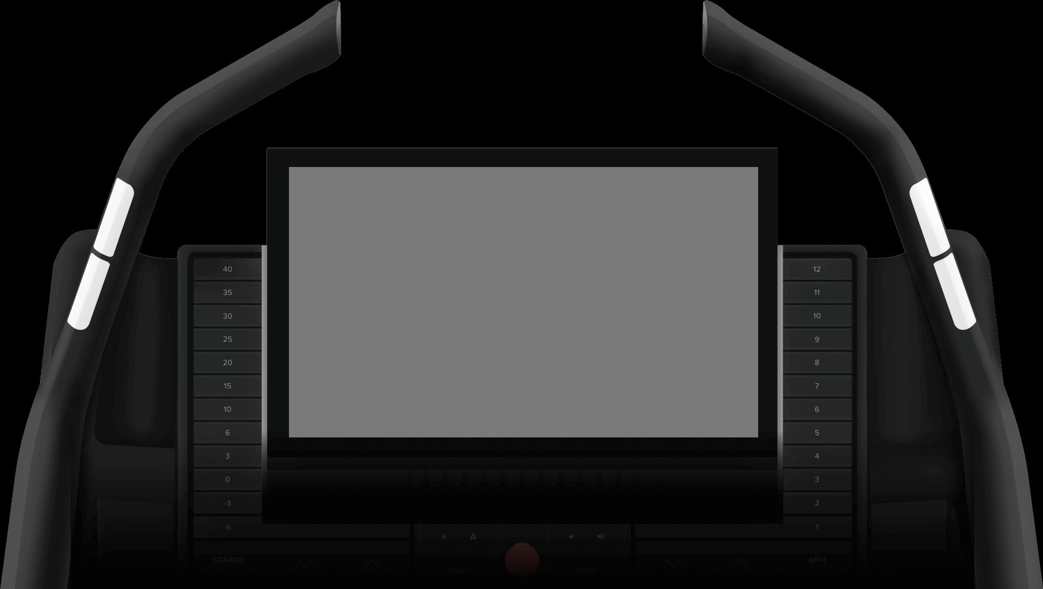Treadmill screen